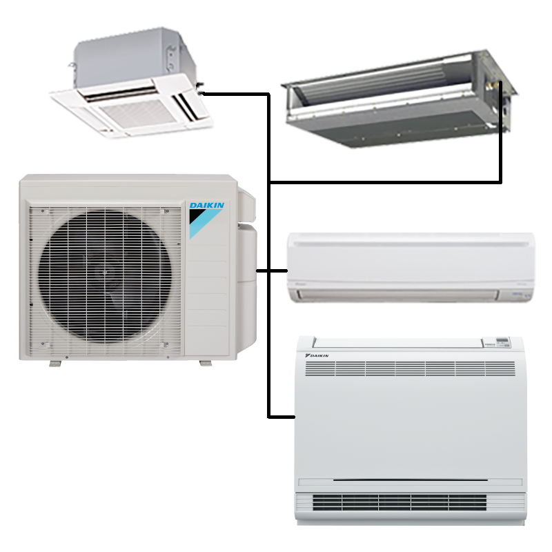 split air conditioning system. please choose from the category list on left of this page for your choice daikin, lg or mitsubishi electric multi split systems. air conditioning system