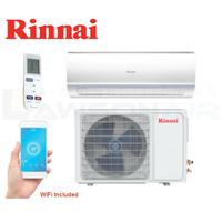 Rinnai HSNRA35 Hiwall D Series (Reverse Cycle) 3.5kW Inverter Split System