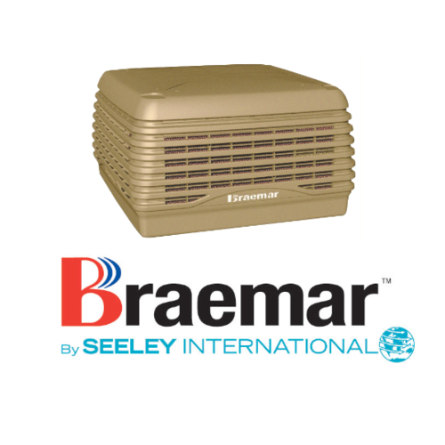 Braemar LCQI550 14.3kW Ducted Super Stealth Series Evaporative Cooler - Beige