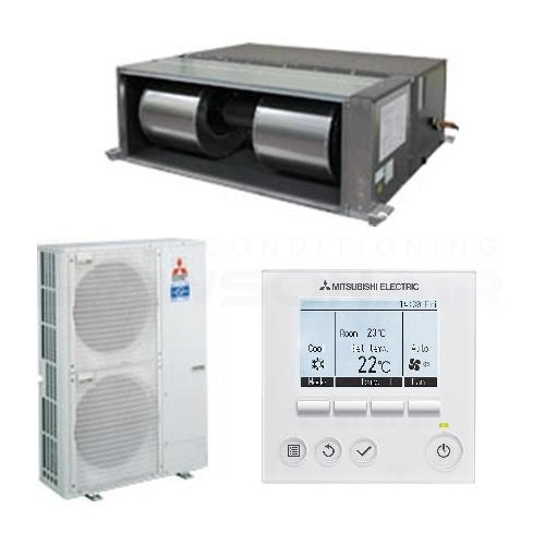 mitsubishi electric pea-rp170wja 17 0 kw 1 phase power inverter ducted unit
